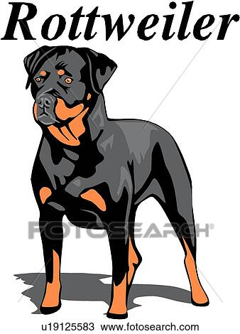 clipart of rottweiler u19125583 search clip art illustration rh fotosearch com rottweiler dog clipart rottweiler clipart black and white