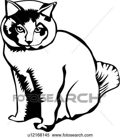 Clipart gatto u12168145 cerca clipart illustrazioni for Gatto clipart