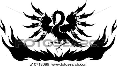 Clip Art Phoenix Clipart phoenix clip art vector graphics 1742 eps clipart phoenix