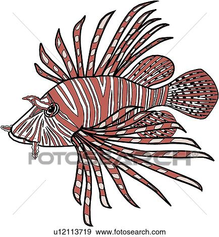 Clip Art of Lionfish u12113719