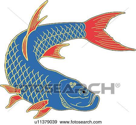 Clip Art of Tarpon Oriental u11379039 - Search Clipart ...