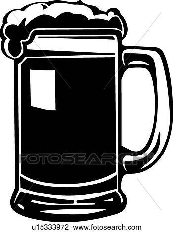 clipart of beer mug u15333972 search clip art illustration murals rh fotosearch com beer mug clip art outline beer mug images clipart