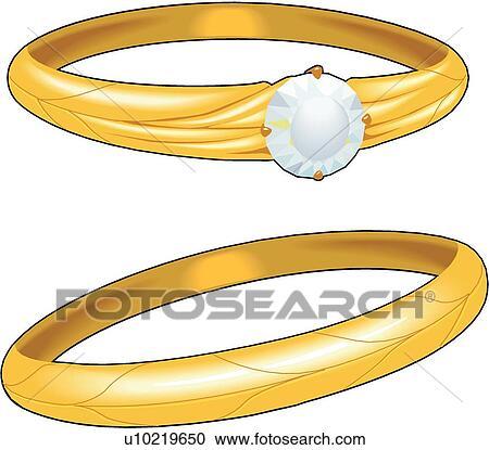 Clipart Of Wedding Rings U10219650