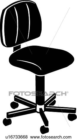 Clip Art Of Office Chair U16733668