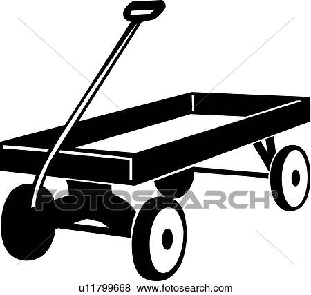 Clip Art of Wagon u11799668 - Search Clipart, Illustration Posters ...