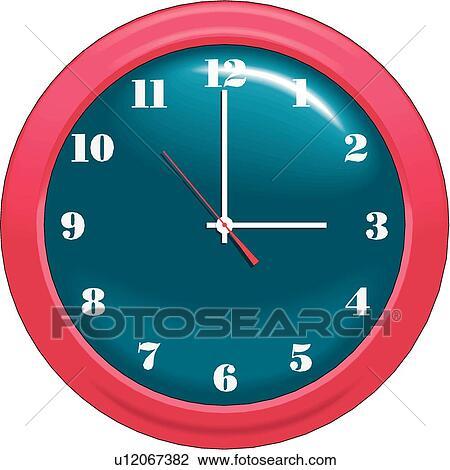 Clipart of Wall Clock u12067382 - Search Clip Art ...