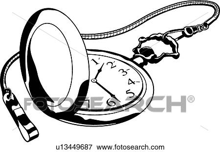 Clip Art of Pocket Watch u13449687 - Search Clipart, Illustration ...