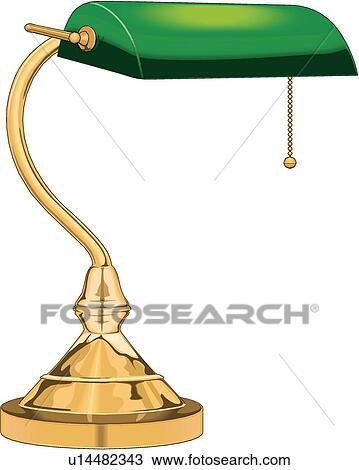 Schreibtischlampe clipart  Clipart - schreibtischlampe u14482343 - Suche Clip Art ...