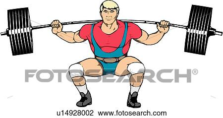 Clipart of Weight Lifter u14928002 - Search Clip Art ...