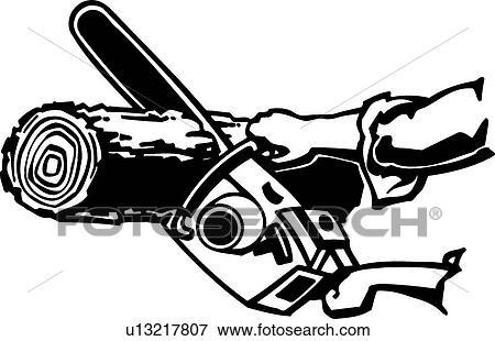 Clipart tron onneuse op rateur u13217807 recherchez des cliparts des illustrations des - Coloriage tronconneuse ...