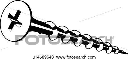 Clipart of Deck Screw u14589643 - Search Clip Art, Illustration ...