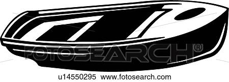 Clipart Of Rowboat U14550295