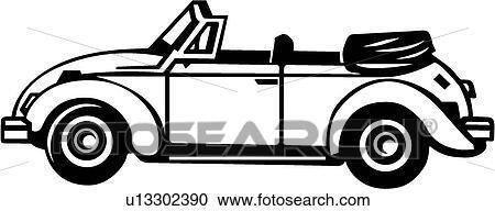 Clipart - VW Bug Convertible . Fotosearch - Search Clip Art ...