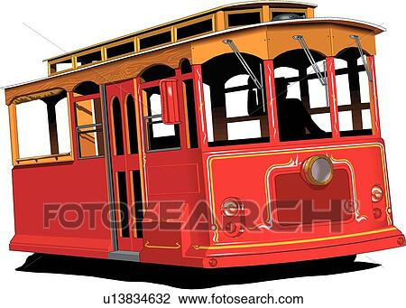 San Francisco Trolley Clip Art Cliparts