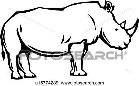 clip art of rhino u15774289 search clipart illustration posters rh fotosearch com baby rhino clipart rhino clipart png