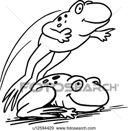Clip Art of Leap Frogs u12594429 - Search Clipart, Illustration ...