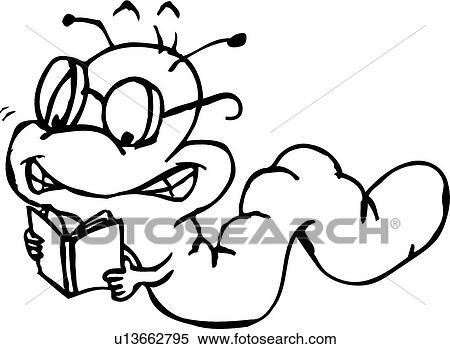Bücherwurm clipart  Clipart - bücherwurm u13662795 - Suche Clip Art, Illustration ...
