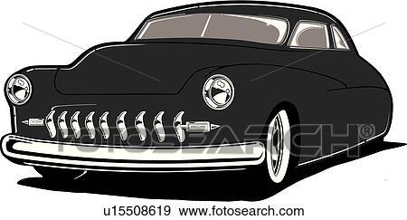 Clip Art of car, auto, automobile, cars, autos, automobiles, lead ...