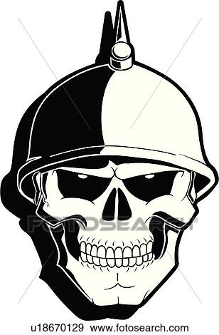 clip art of skull skulls death doom creepy scary extreme rh fotosearch com skull clipart black and white skull clip art free images