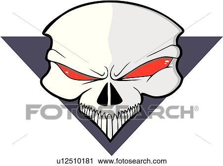 clipart of skull skulls death doom creepy scary extreme rh fotosearch com scary clipart black and white scary clipart black and white