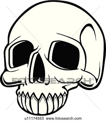 Clipart of skull, skulls, death, doom, creepy, scary, extreme ...