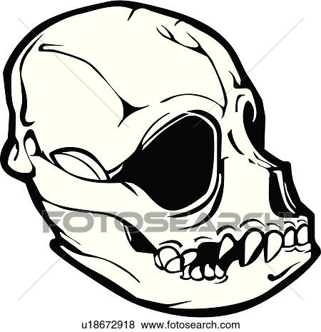 Clip Art of skull, skulls, death, doom, creepy, scary, extreme ...