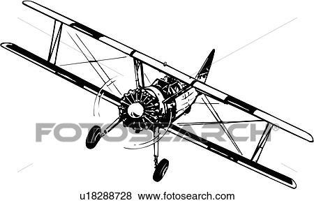 Biplane Clip Art EPS Images. 590 biplane clipart vector ...