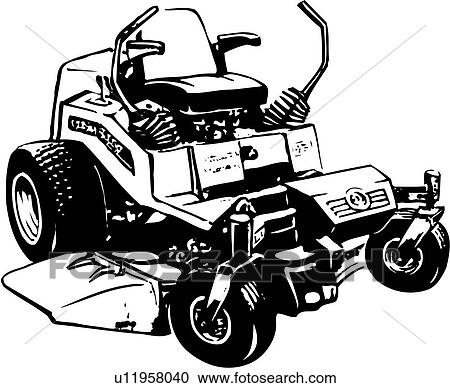 Riding Lawn Mower Illustration Lawn Mower Illustration