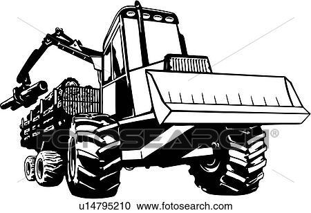 Logging equipment clipart