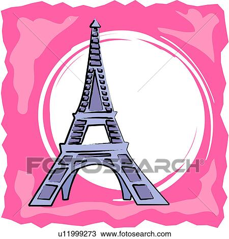 Clipart Of Eiffel Tower U11999273