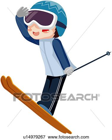 Clip Art of recreation, season, well being, leisure ...