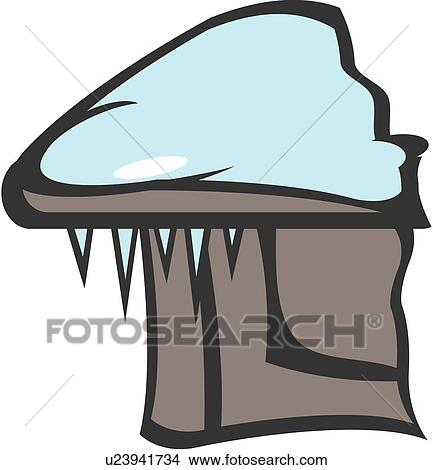 Clipart of season, roof, nature, icicle, natural ...