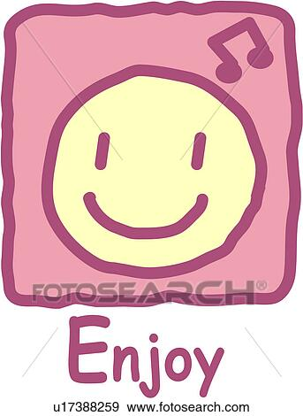 Clip Art of Enjoy u17388259 - Search Clipart, Illustration Posters ...