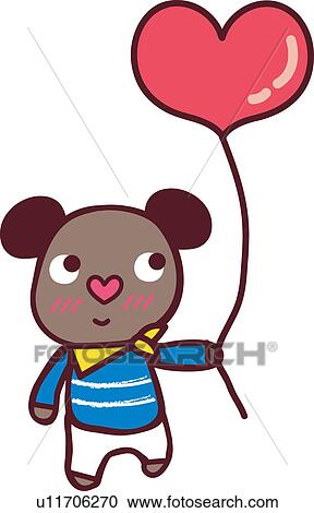 clipart of proposal bear heart balloon male proposing rh fotosearch com wedding proposal clipart engagement proposal clipart