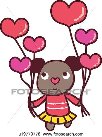 Clipart amour ours balloon c ur femme hart balloon - Clipart amour ...