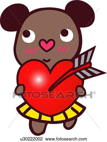 Clipart proposition ours amour c ur femme proposer - Clipart amour ...
