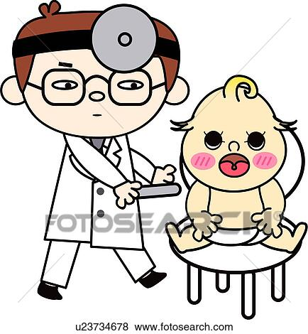 Clip Art of people, treatment, job, baby, doctor, medical ...