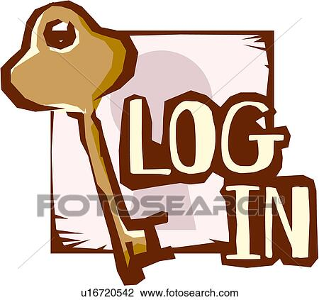 Clipart of business, login, web, site, homepage, cyberspace, icon ...