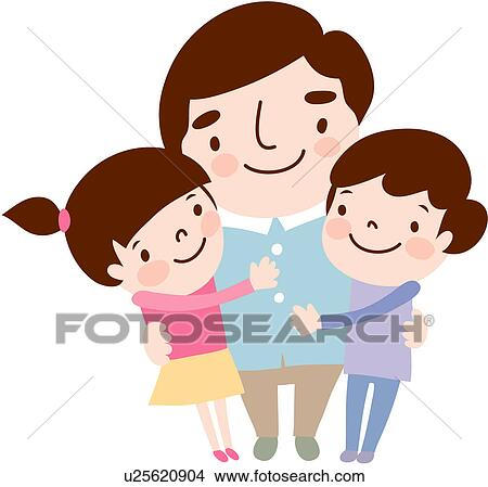 clipart of daughter puttung arms sibling fatherhood father rh fotosearch com father and daughter dancing clipart daddy and daughter clipart