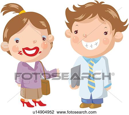 Clipart of giggle, father, mother, smiling, make-up ...