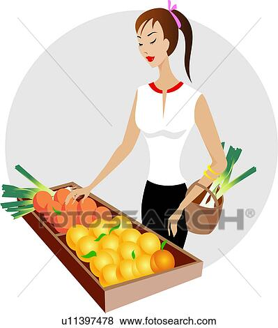 Clip Art of supermarket, lifestyle, shopping bag, retail ...
