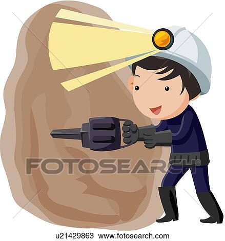 clipart caract re casque outils adulte mineur u21429863 recherchez des clip arts des. Black Bedroom Furniture Sets. Home Design Ideas