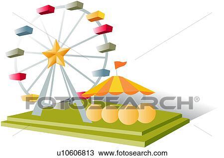 Clipart of lifestyle, amusement park, ride, theme park, playground ...