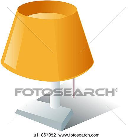 clipart stand logo lampe bureau chevet lampe lectronique u11867052 recherchez des clip. Black Bedroom Furniture Sets. Home Design Ideas