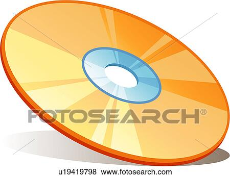 Clip Art of CD, cd, disc, compact disc, disk, stationery, icon ...