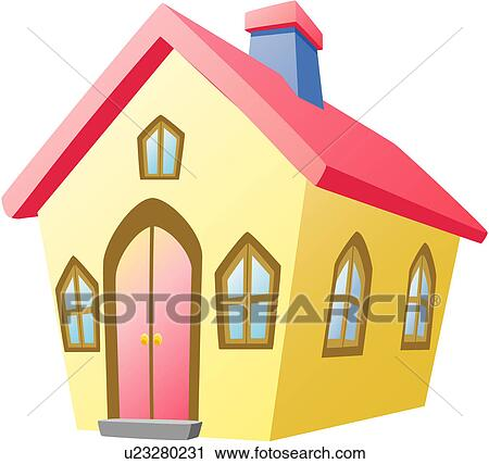Clipart of house housing modern architecture logo icon for Modern house clipart