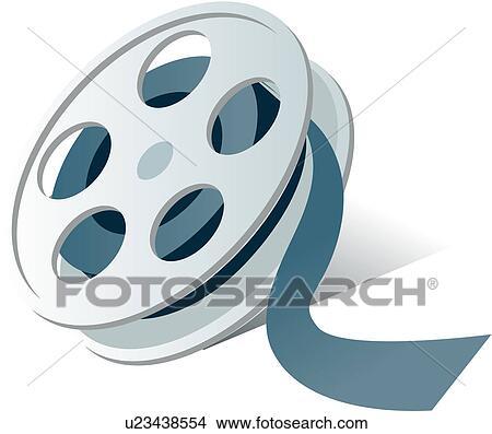 Clipart of logo, film, reel of film, film reel, movie, icon ...