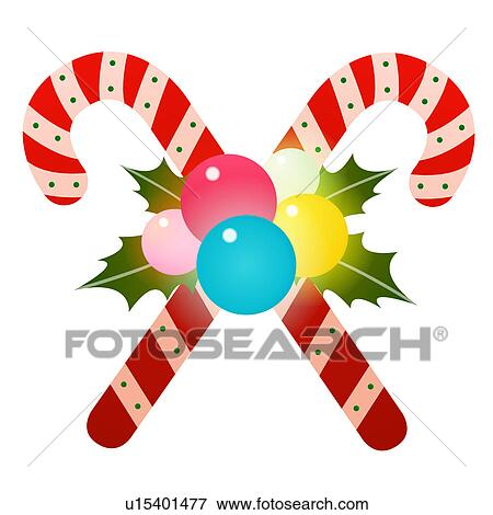 Clip art candy canes fotosearch search clipart illustration
