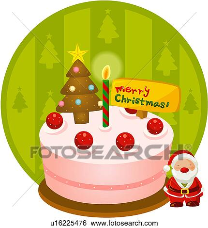 Christmas Cake Pictures Clip Art : Clip Art of Christmas Cake u16225476 - Search Clipart ...
