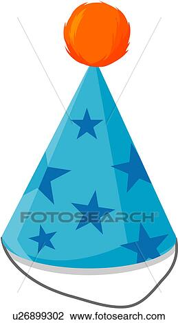 Clipart Of Party Hat Birthday Favors